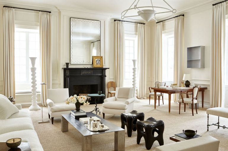 A Chic Living Room In Creamy Whites That Will Be Your Inspiration Today chic living room A Chic Living Room In Creamy Whites That Will Be Your Inspiration Today chic creamy neutral living room by alyssa kapito room of the week on coco kelley 1