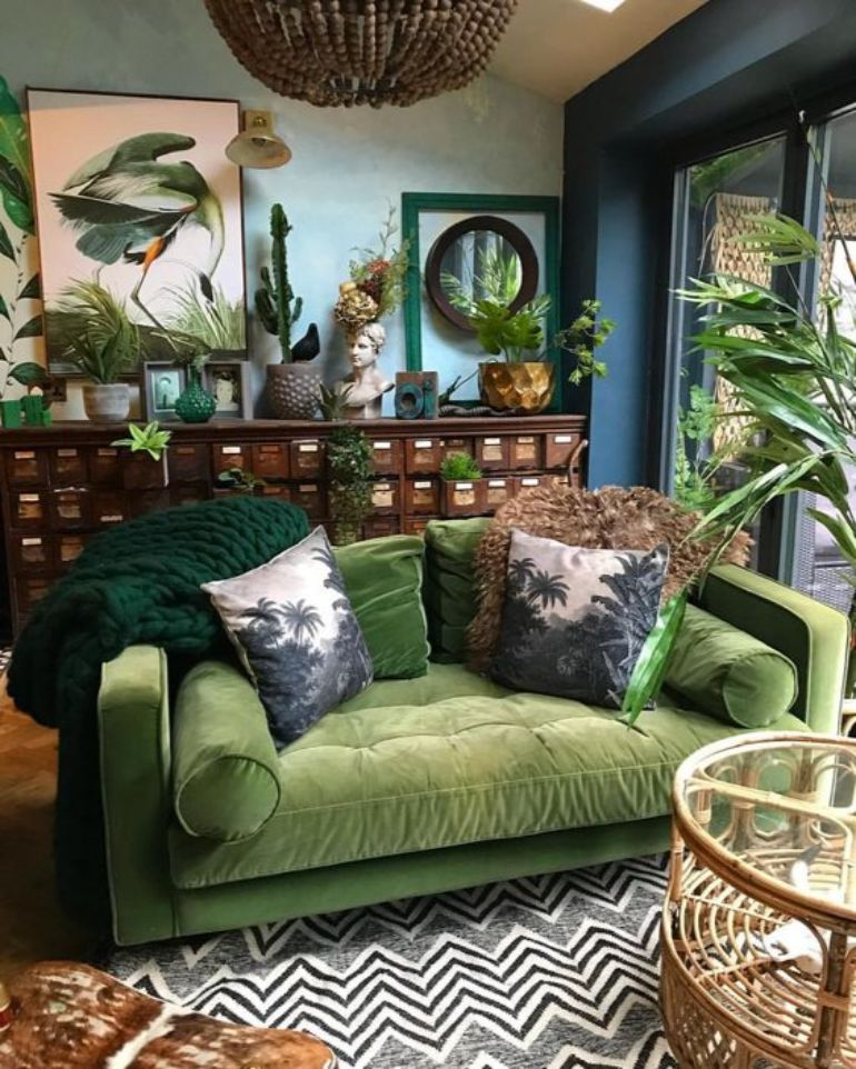Go Green This Summer! Here's The Best Green Living Room Ideas