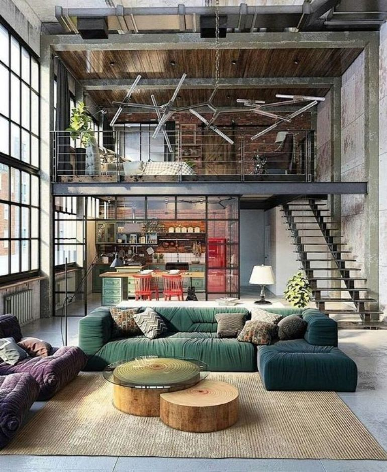Loft Living Rooms Which Creates Freedom and Creativity loft living rooms Loft Living Rooms Which Creates Freedom and Creativity 26ded3bab1b4c91befe5de5699215962 1
