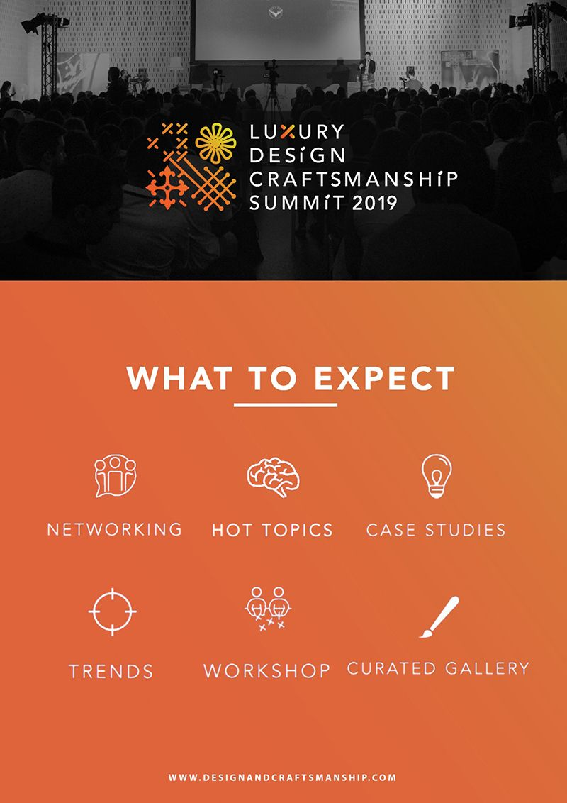Don't Miss The Luxury Design and Craftsmanship Summit 2019!_1