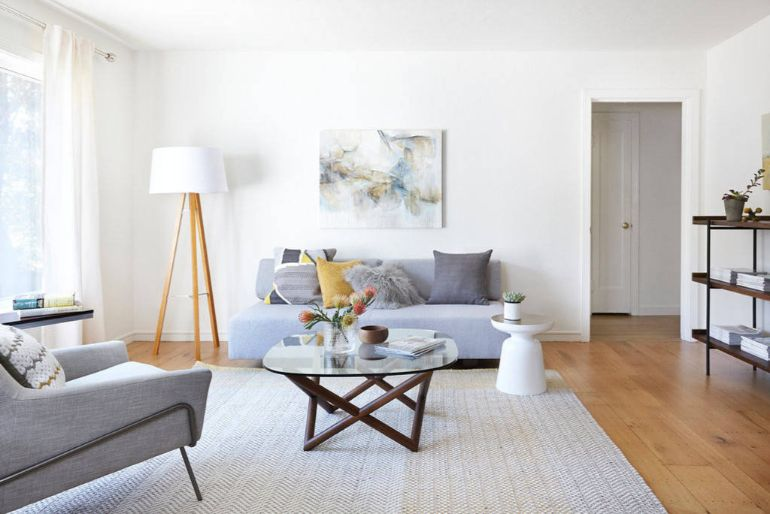 5 Must-Haves In A Scandinavian Living Room scandinavian living room 5 Must-Haves In A Scandinavian Living Room Scandinavian living room simple flatwoven rug 1