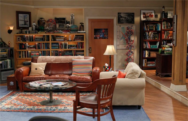 Famous TV Living Rooms We Have All Dreamt About tv living rooms Famous TV Living Rooms We Have All Dreamt About sala the big bang theory pronta