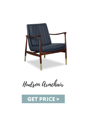 mid-century leather Mid-century Leather Seating Essentials For Your Vintage Living Room hudson armchair 1