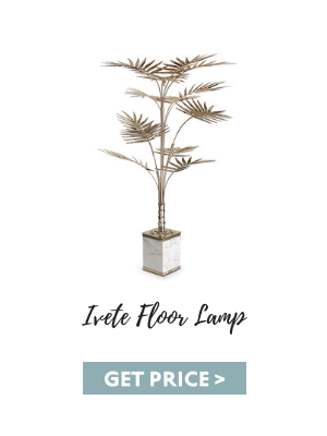 modern living room Mid-century Furniture To Glam Up Your Modern Living Room ivete floor lamp